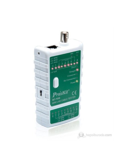 Pro's Kit Mt-7058 Mini Lan Kablo Tester
