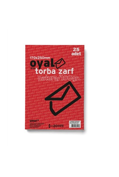 Oyal Torba Zarf (17X25) 100 gr 25'li