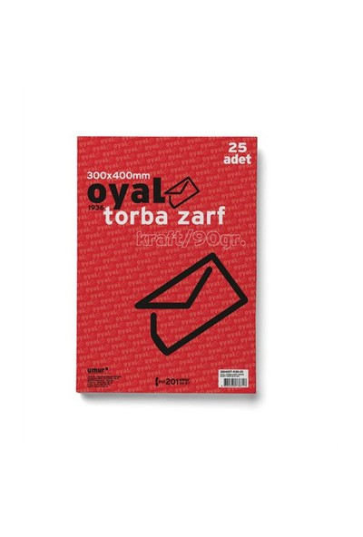 Oyal Torba Zarf (30X40) 90 gr 25'li