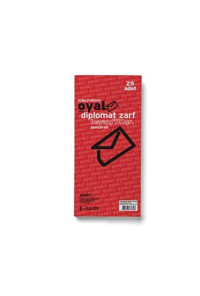 Oyal Diplomt Zarf (105x240) Beyaz 110gr 25'li