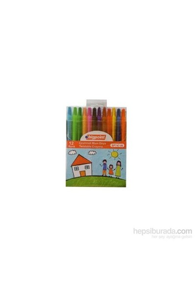 Bigpoint Çevirmeli Mum Boya Crayon 12 Li Korea