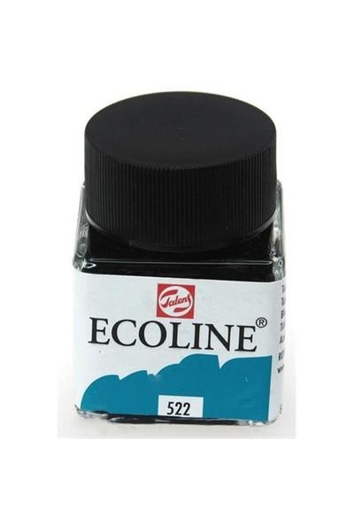 Talens Ecoline Sıvı Suluboya 30 Ml. 522 Turquoise Blue
