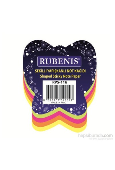 Rubenis Rps116 Not Kağıdı Kelebek Desenli Fosforlu