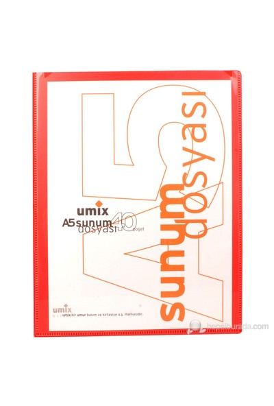 UMIX STANDART SUNUM DOSYASI A5 40'LI KIR