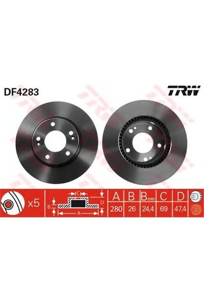 Trw Df4283 Ön Fren Aynası Cupe-Sonato-Tucson-Magentıs-Sportage-1.6 16V-2.0-2.0Crdı-2.4-2.7 (280X26x5dlxhavalı)