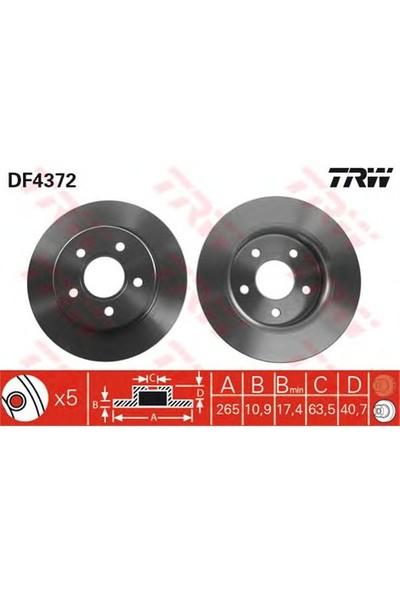 Trw Df4372 Arka Fren Aynası Focus Iı 11.04>Cmax 10/03>Mazda 3 03>Volvo S40 V50 (1.05>15 Jant(265X10.9X5dl)