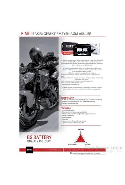 Bs-Battery Bt14b-Bs (Yt14b-Bs) 12V 12Ah 210Cca Agm Bakımsız Motosiklet Aküsü
