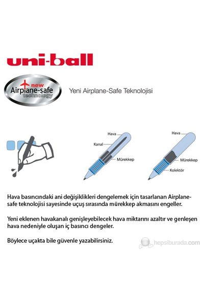 Uni-ball Vision Elite Micro Roller Kalem (UB-205) Mavi