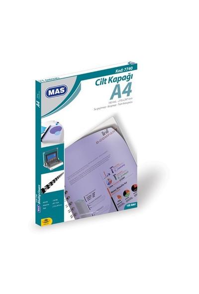 Mas 7740 Cilt Kapağı Pp - A4- 100 Lü Pk.Beyaz