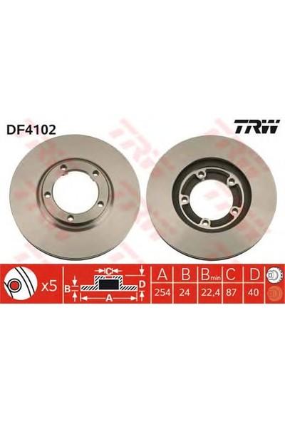 Trw Df4102 Ön Fren Aynası Starex-H1 Van 2.4 4Wd-2.5Td 4Wd 97> (254X24x5dlxhavalı)