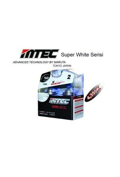 MTEC Super White H3 Xenon Tip Ampül Seti 5690
