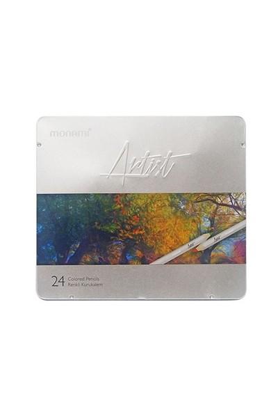 Monami Artist Kuru Boya 24 Renk (Metal Kutu) Mkb710024m