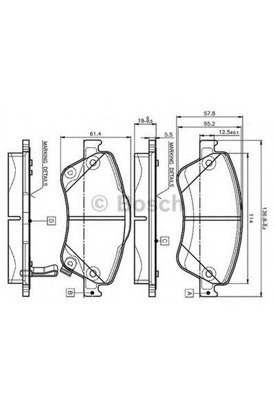 Bosch 0986Tb3069 Ön Balata Aurıs-Corolla 1.4D-1.4 Vvtı-1.6 Vvtı-2.0D-4D-2.2D 07=> D4d