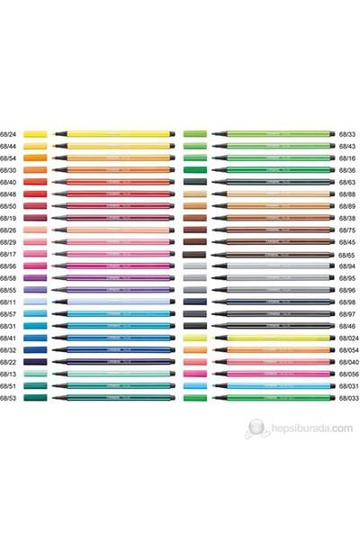 Stabilo Pen 68 Florasan Renk Keçeli Kalem (68/40) Açık Kırmızı