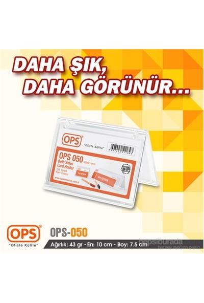 Ops OPS050 Çift Taraflı Kart Tutucu 90x55 mm (Şeffaf)