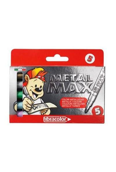 Fibracolor Metal Max Metalik Keçeli Kalem 5 Renk 10580