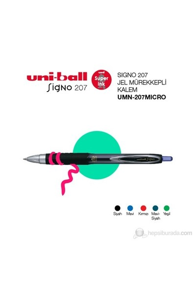 Uni-ball Signo Micro 207 Jel Mürekkepli Kalem 0,5 (UMN-207 MICRO)-Siyah
