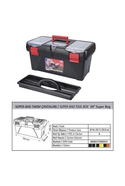 AutoCet 19 inç SUPER-BAG Boş Takım Çantası (Malzeme kutusu )
