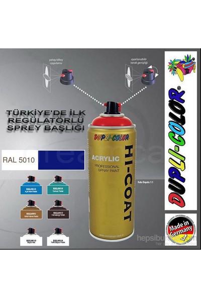 Dupli-Color Hi-Coat Ral 5010 Parlak Lacivert Akrilik Sprey Boya 400 Ml. Made in Germany 406355
