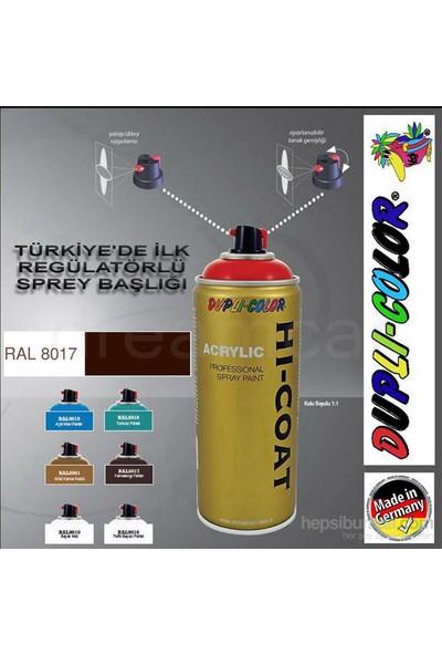 Dupli-Color Hi-Coat Ral 8017 Kahverengi Parlak Akrilik Sprey Boya 400 Ml. Made in Germany 406362