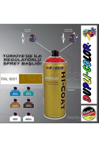 Dupli-Color Hi-Coat Ral 8001 Parlak Sütlü Kahve Akrilik Sprey Boya 400 Ml. Made in Germany 406591