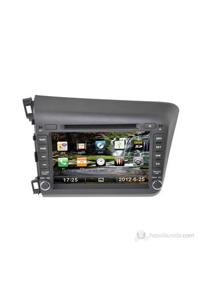 "Navimex HONDA CIVIC NEW NAV9915HD 7"" Dokunmatik HD Ekranlı TV'li-Navigasyonlu Multimedya sistem"