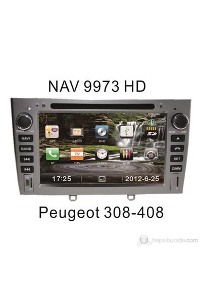 "Navimex PEUGEOT 308-408 NAV9973HD 7"" Dokunmatik HD Ekranlı TV'li-Navigasyonlu Multimedya sistem"