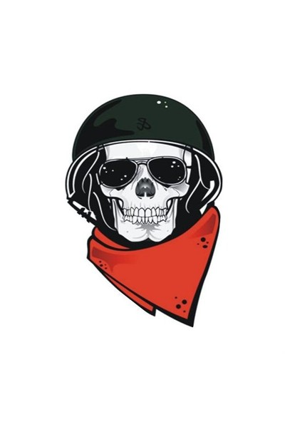 Sticker Masters Motorcu Kurukafa Sticker