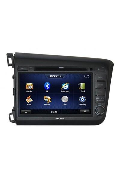 Necvox Dvn -P 1050 Honda Civic Nev Platinum Navigasyonlu Multimedya Kamera Dvd Mp3 Tv Anteni Geri Görüş Kamerası