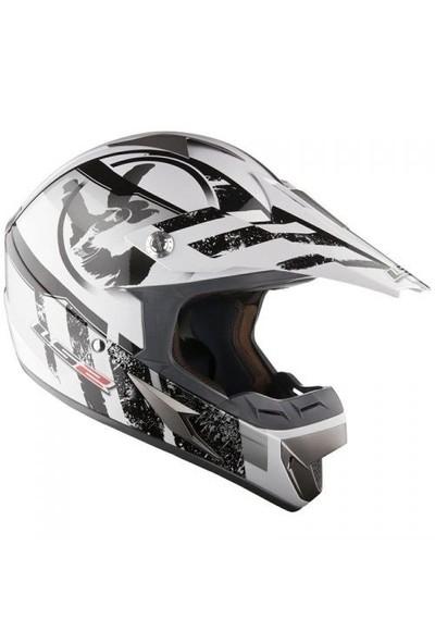 Ls2 Mx 433 Stripe Kross Kaskı (Siyah-Beyaz)
