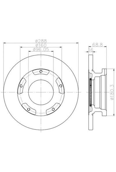 Trw Df6510s Dısk Ayna : Arka Ö.Çeker - Marka: Fdtc - Custom/Transıt 2014- - Yıl: 12-