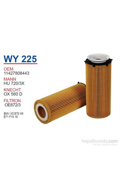 Wunder BMV X5 E70 X6 E71 F10 10 Yağ Filtresi OEM NO:11427808443