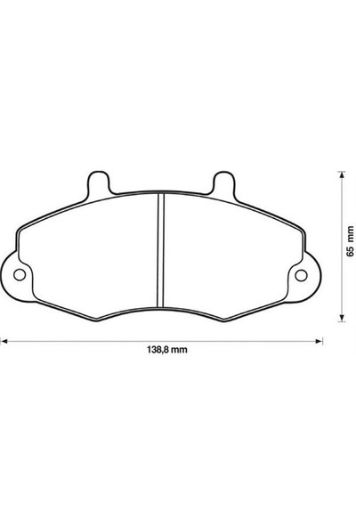 Autotech 106-190 Ön Balata Ford Transıt T12 2.0 2.5 Dı 2.5Td 2.5 Tdı ( 88-03.00 ) ( Cap 138.8- 64 -18.8 )