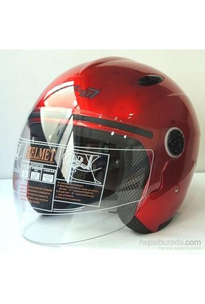 Free-M 601 Yazlık Açık Motosiklet Kaskı (Kırmızı)
