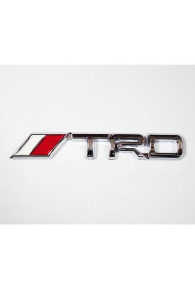 Z tech TRD Logosu 3D görünümlü sticker 14x2 cm