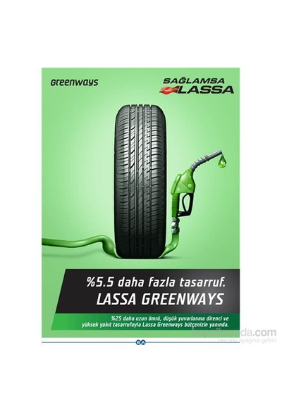 Lassa 185/65 R15 88H GreenWays Oto Lastik(Üretim Yılı: 2019)