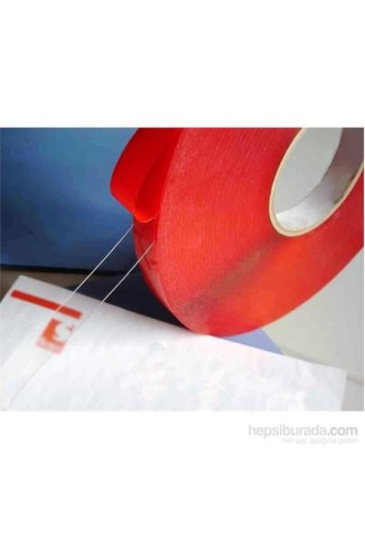 Çift Taraflı Bant 10 mm X 5 Metre Süper Güçlü Montaj Bandı (Şeffaf)
