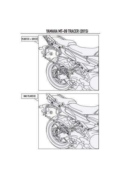 Gıvı Plxr2122 Yamaha Mt-09 Tracer (15-16) Yan Çanta Tasıyıcı