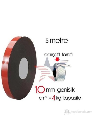ModaCar Çift Taraflı Bant Akrilik Silikonlu 1 cm x 10 Metre 422597