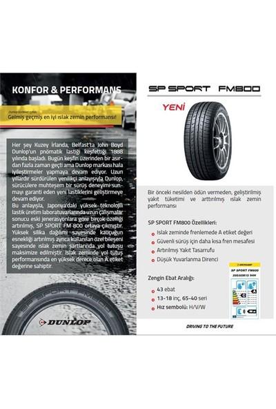 Dunlop 185/60 R15 84H SP Sport FM800 Oto Yaz Lastiği ( Üretim Yılı: 2021 )