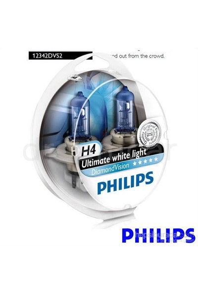 Philips H4 Diamond Vision Ultra Beyaz Işık 5000K