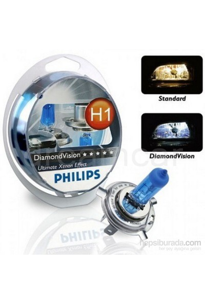 Philips H1 Diamond Vision Ultra Beyaz Işık 5000K