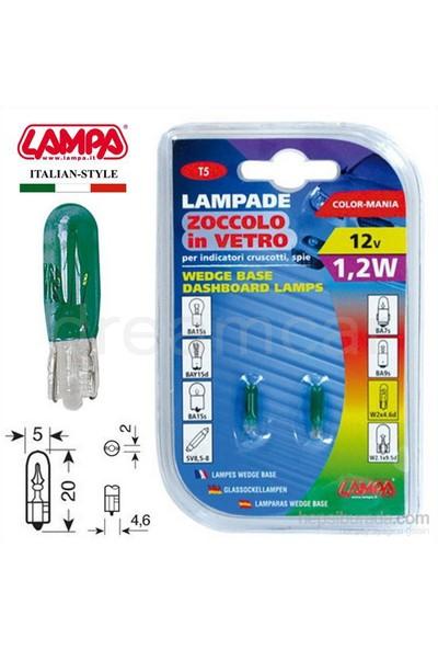 Lampa Yeşil 1,2W T5 Dipsiz Gösterge Ampulü 2 Ad. 58357