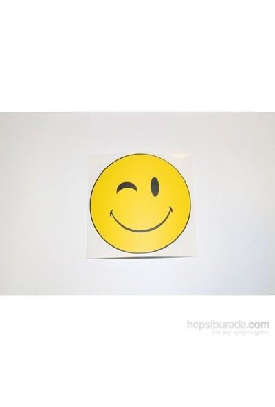 Gülen Yüz Sticker -1 8 x 8 cm