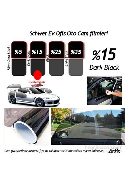 Schwer ÇİZİLMEZ Cam Filmi 50 Cm x 6 Metre Dark Black-( 3 m2) Çekme Aparatlı