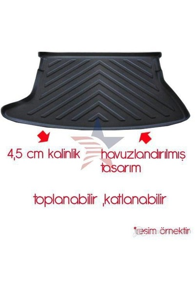ModaCar M-Flex SİYAH AUDI Q3 Bagaj Havuzu 85h189