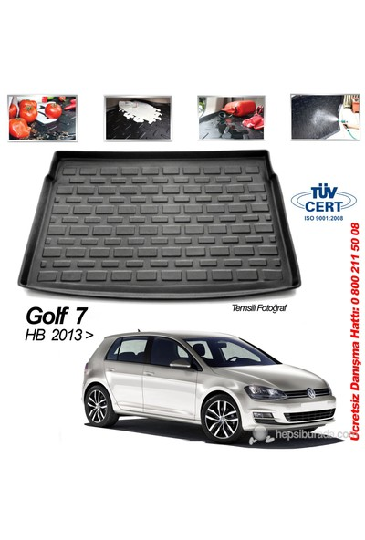 Automix Volkswagen Golf 7 Hb Bagaj Havuzu Paspası 2013-> Sonrası