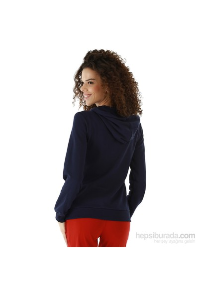 Kappa 1 3026P6 193L Bayan Kadın İnterlok Sweatshirt Lacivert