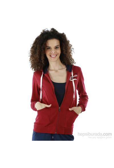 Kappa 1 3026P6 XGTM Bayan Kadın İnterlok Sweatshirt Vişne Çürüğü