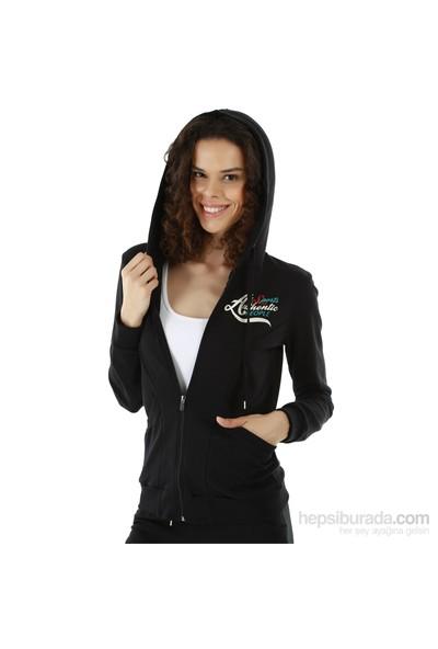 Kappa 1 3026P6 005L Bayan Kadın İnterlok Sweatshirt Siyah